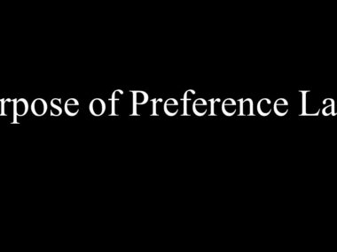 Purpose of Preference Laws